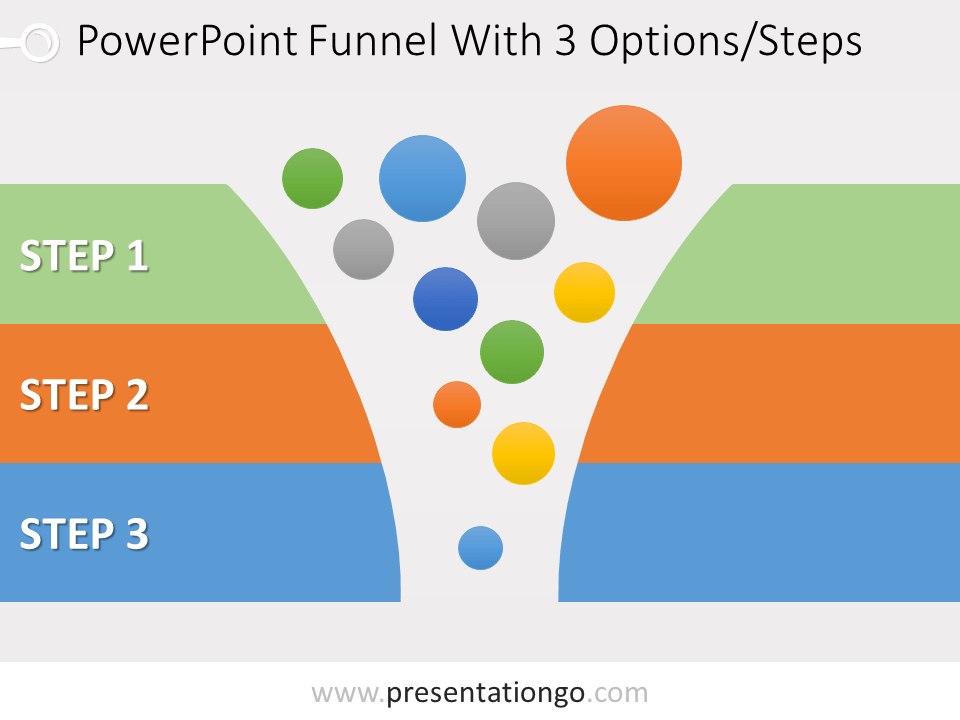 Free 3 Stage Funnel Graphics for PowerPoint