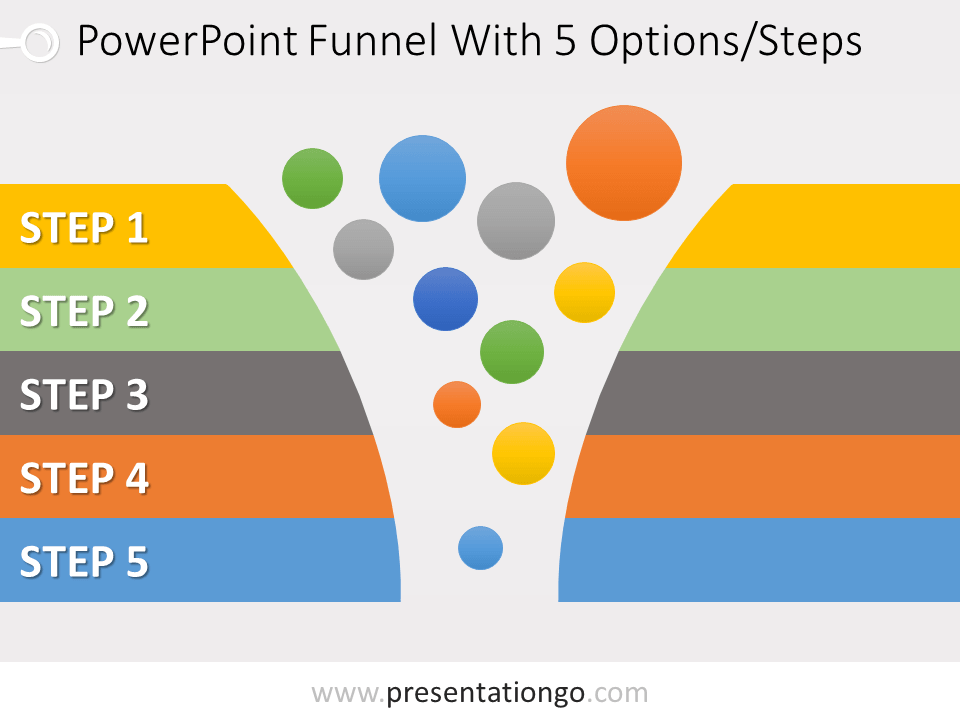 Free 5 Stage Funnel Graphics for PowerPoint