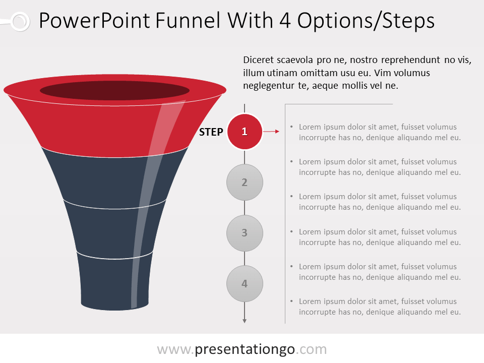 Free PowerPoint Funnel Evolution with 4 Steps - Level 1