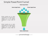 Free PowerPoint Funnel - Input with Drops