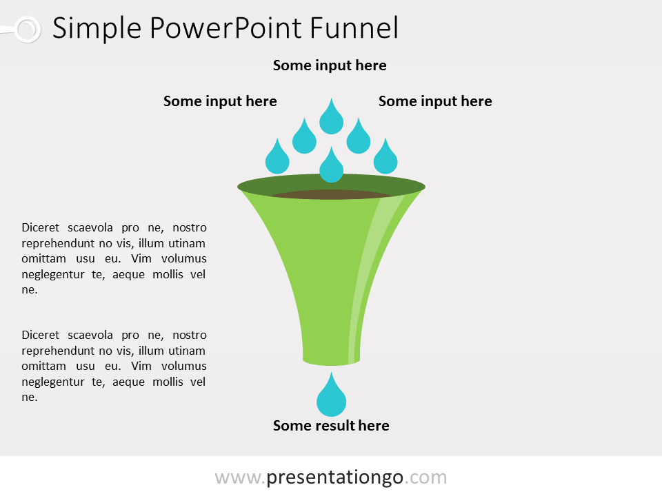 funnel the free powerpoint template library