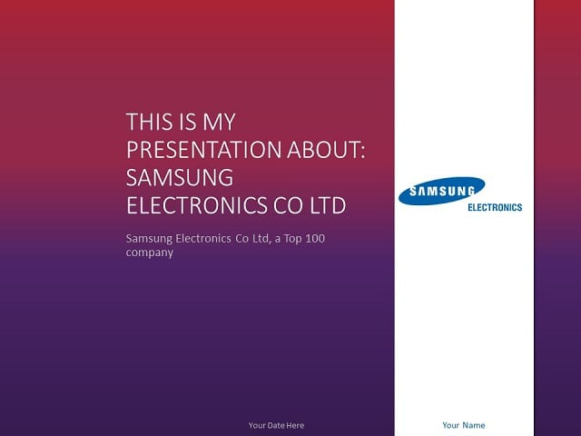 Free purple powerpoint templates presentationgo samsung powerpoint template toneelgroepblik Image collections