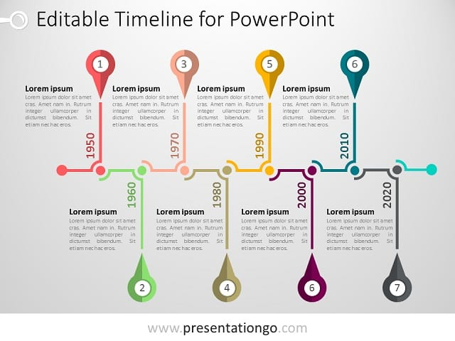 PowerPoint Timeline Template PresentationGOcom - Timeline graphic template