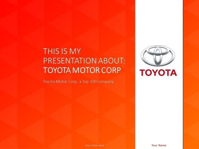 toyota powerpoint template - presentationgo, Powerpoint Template Corporate Presentation, Presentation templates