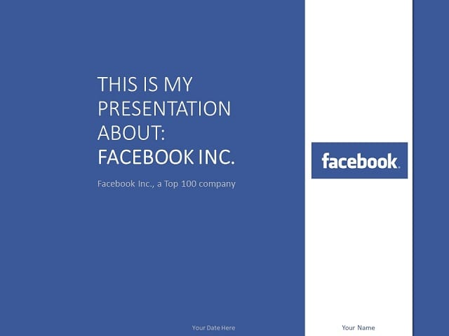 facebook powerpoint template - presentationgo, Modern powerpoint