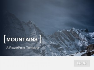 Free PowerPoint Template Mountains