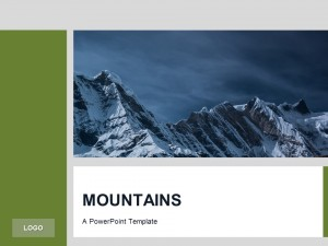 Free Green PowerPoint Template Mountains