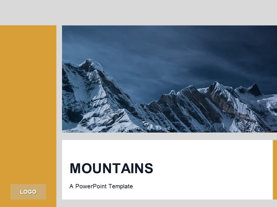 Orange powerpoint template mountains toneelgroepblik