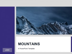 Free Purple PowerPoint Template Mountains