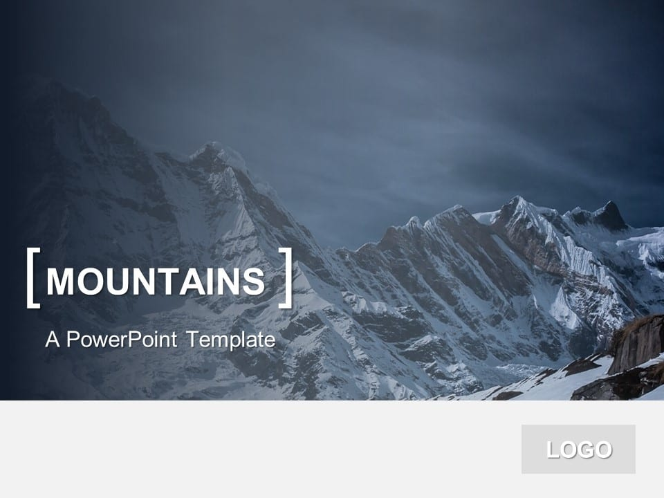 Powerpoint Template Mountains  PresentationgoCom