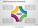 Free PowerPoint SWOT Analysis with Block Arcs