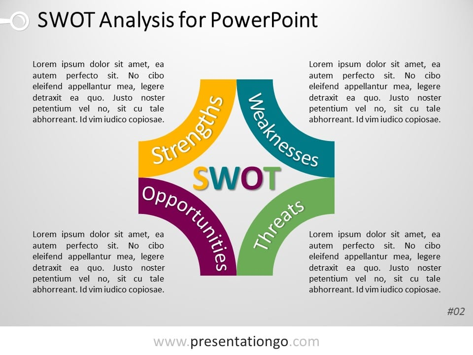 SWOT Analysis Template for PowerPoint: presentationgo.com/presentation/category/format/powerpoint