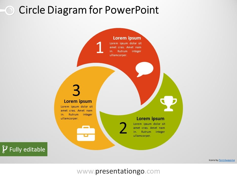 3 circle powerpoint diagram presentationgo view larger image free 3 circle powerpoint diagram pptx diagram with three intertwined and editable circular shapes ccuart Image collections