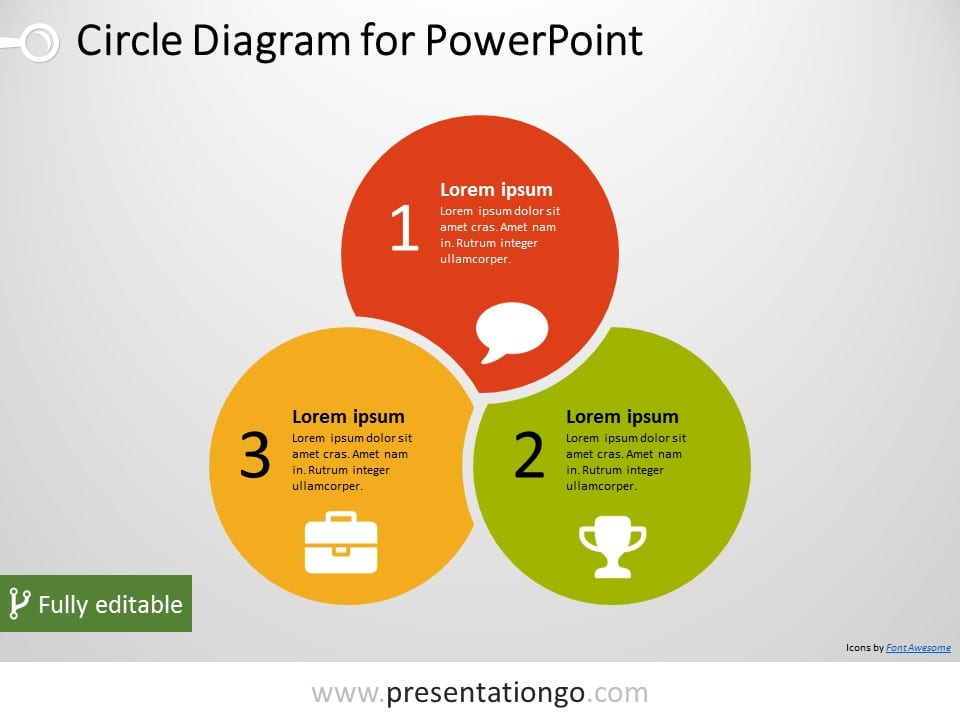 3 circle powerpoint diagram presentationgo com