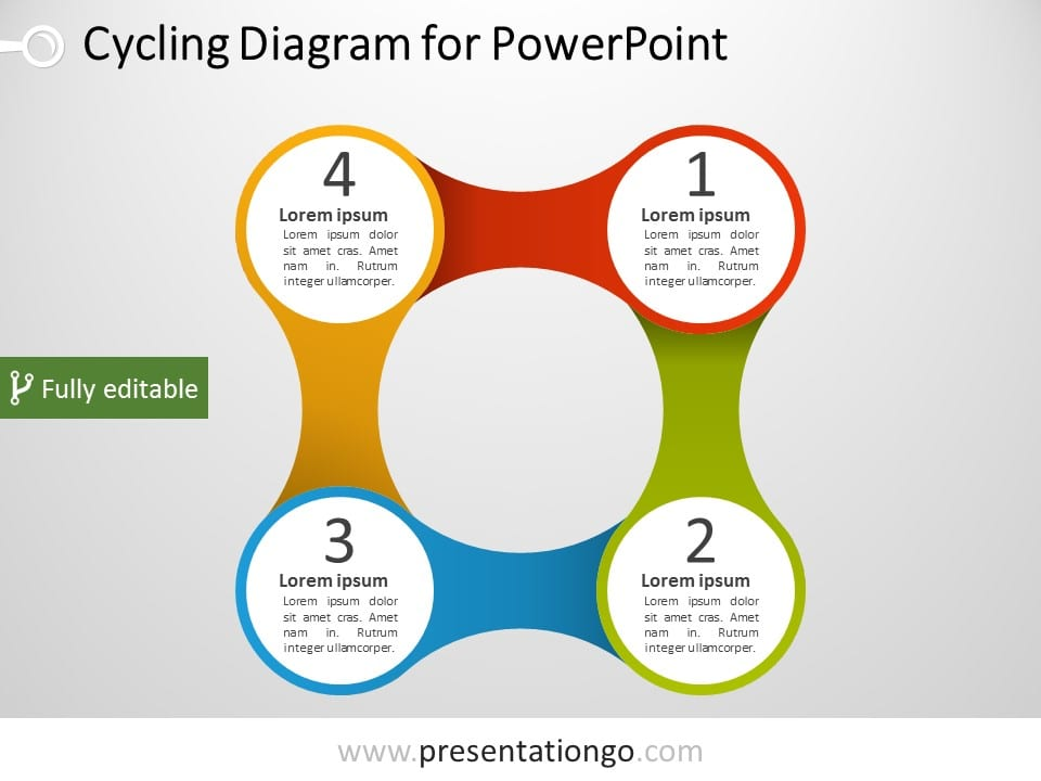 4 part powerpoint diagram presentationgo com