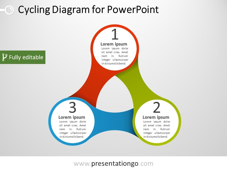 triangular powerpoint diagram presentationgo com