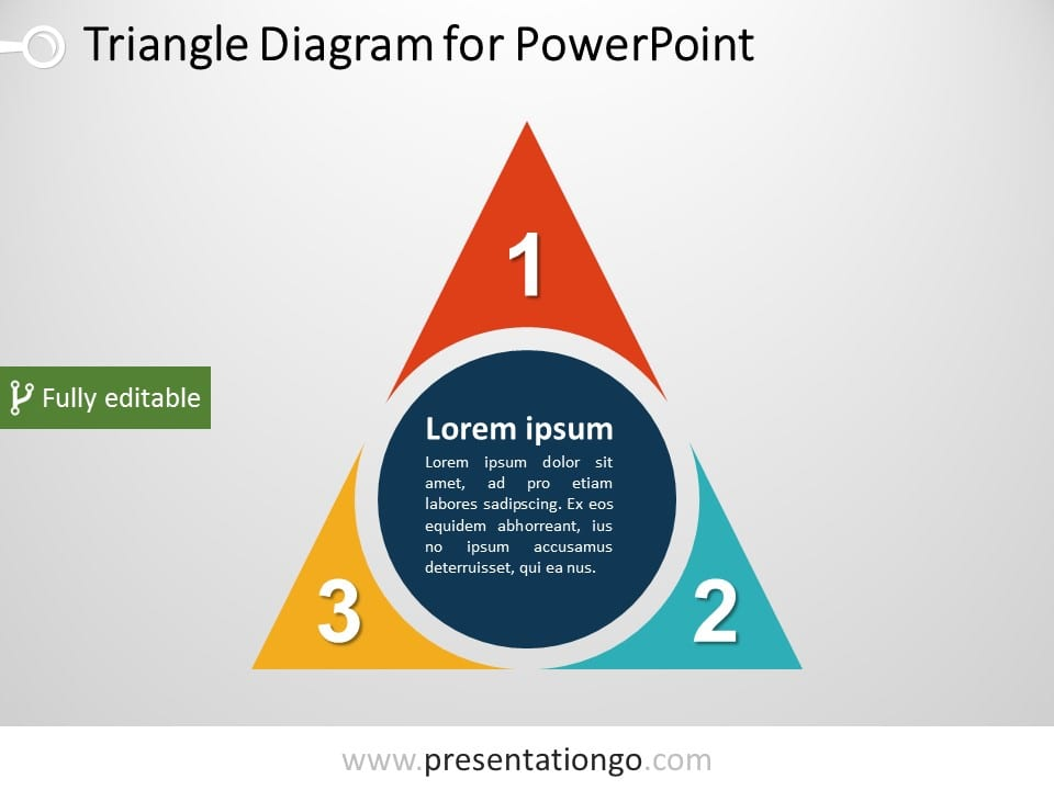 triangle powerpoint diagram presentationgo com