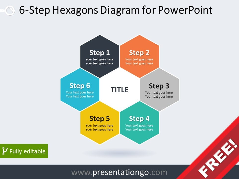 Free hexagons powerpoint templates presentationgo 6 step hexagons diagram for powerpoint pronofoot35fo Choice Image