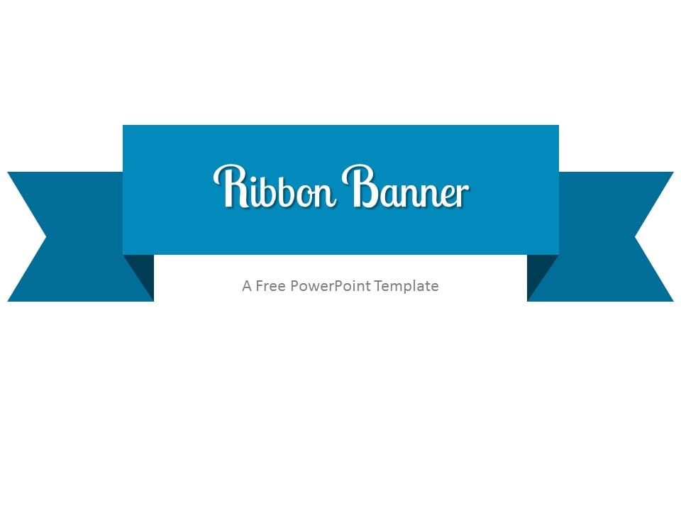 blue ribbon banner powerpoint template