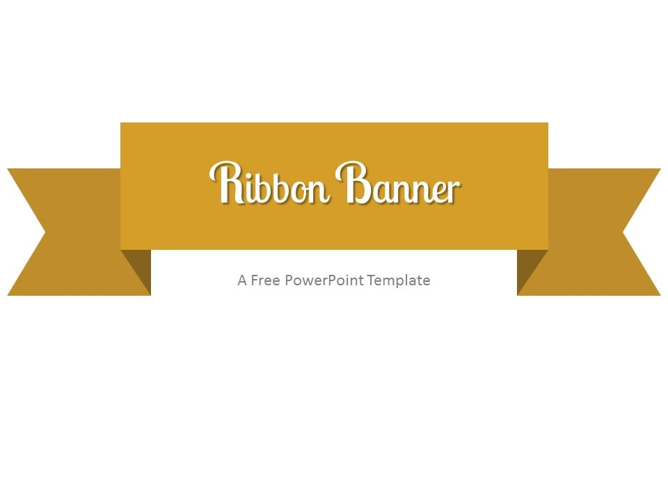 gold ribbon banner powerpoint template