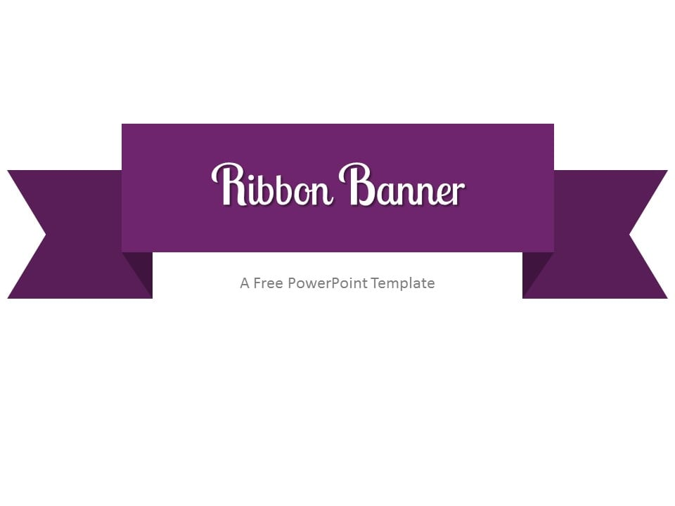 Free purple powerpoint templates presentationgo purple ribbon banner powerpoint template toneelgroepblik