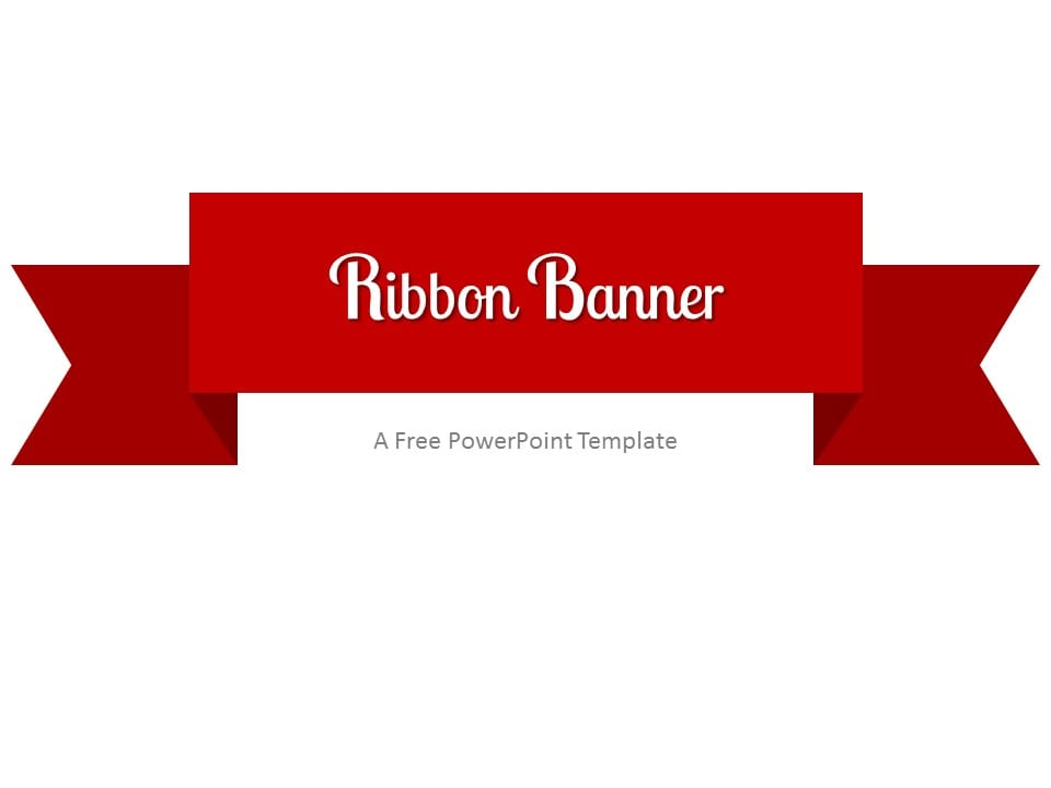 Red ribbon banner powerpoint template toneelgroepblik
