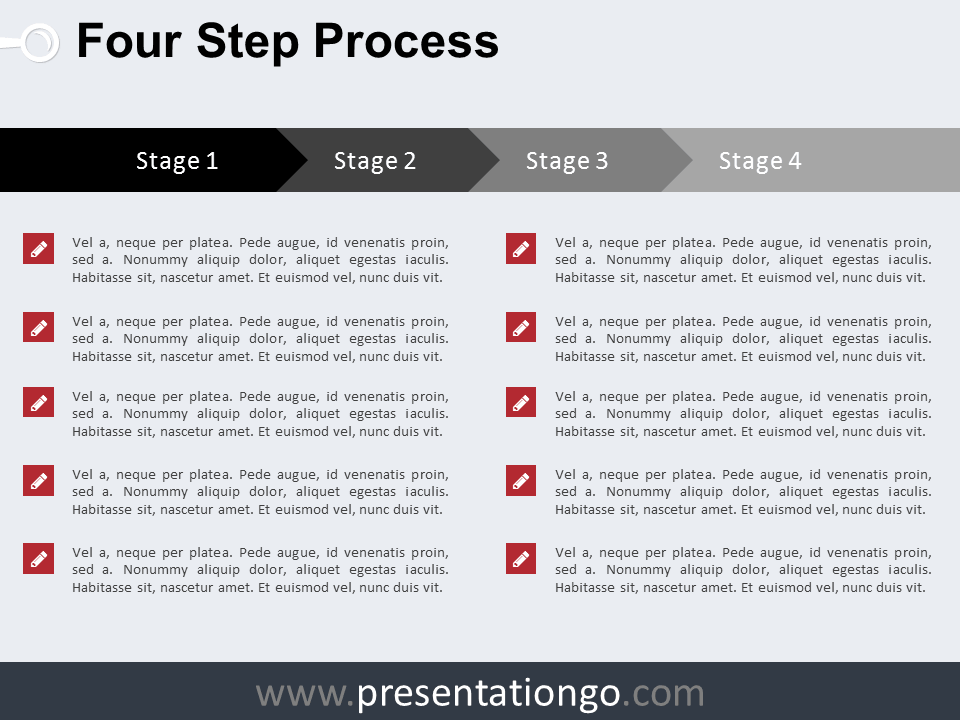 Free 4 Step Process PowerPoint Template