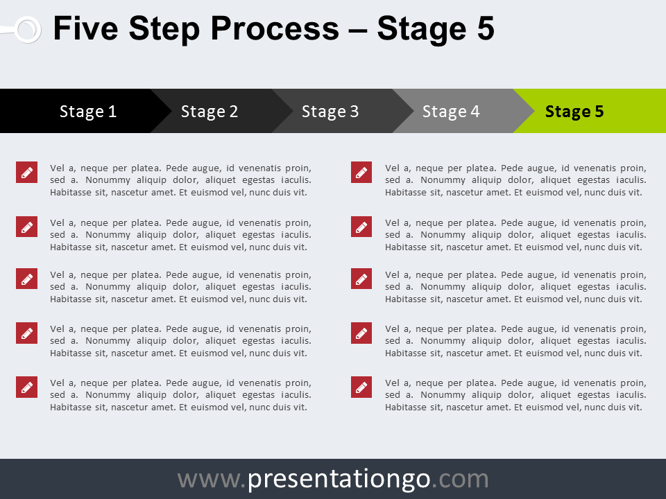 Free 5 Step Process PowerPoint Template - Stage 5