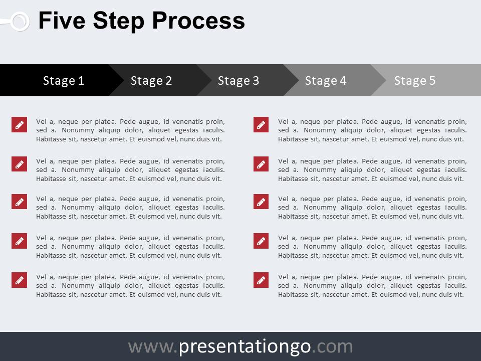 Workflow the free powerpoint template library 5 step process powerpoint template toneelgroepblik Gallery