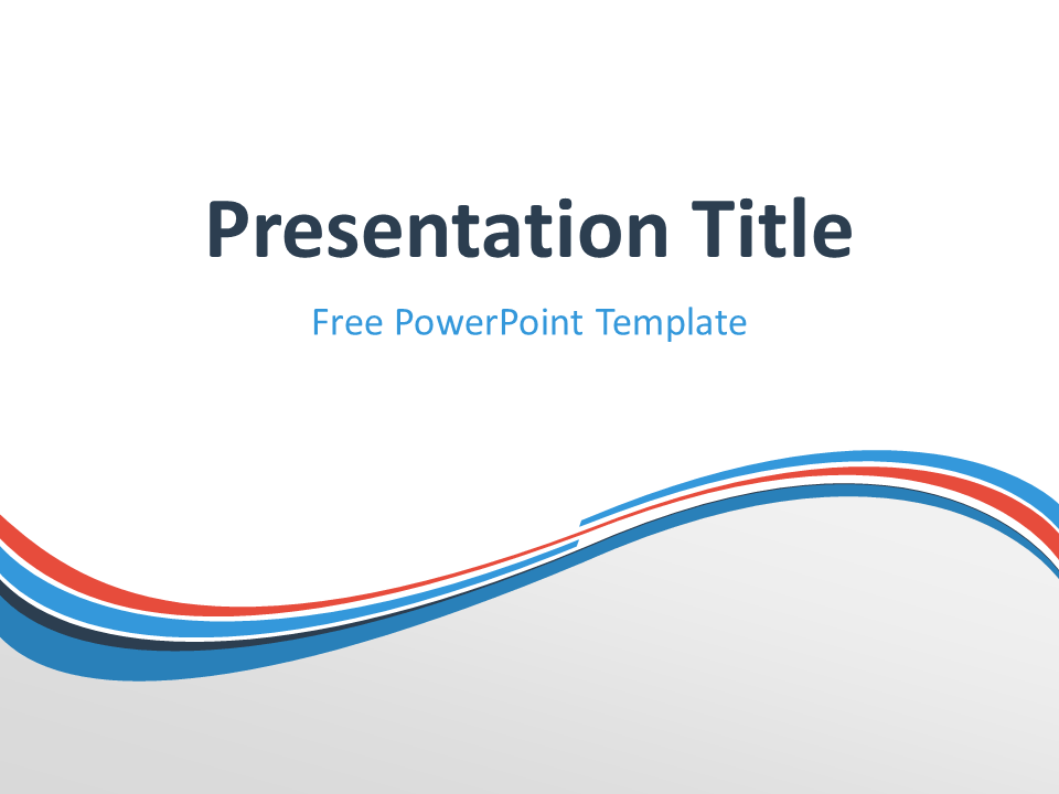 Free white powerpoint templates presentationgo blue orange wave powerpoint template toneelgroepblik Image collections