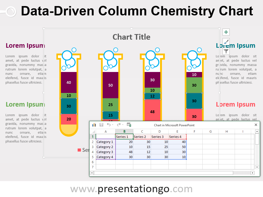 Lovely This U0027Chemistry Column PowerPoint Chartu0027 Template Features: Amazing Ideas