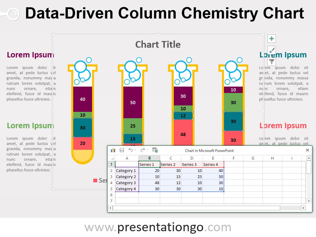 Chemistry Column PowerPoint Chart PresentationGO – Chemistry Chart Template