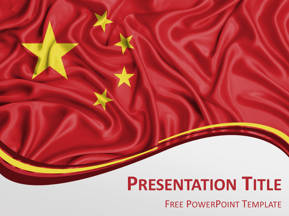 China Flag Powerpoint Template Presentationgo