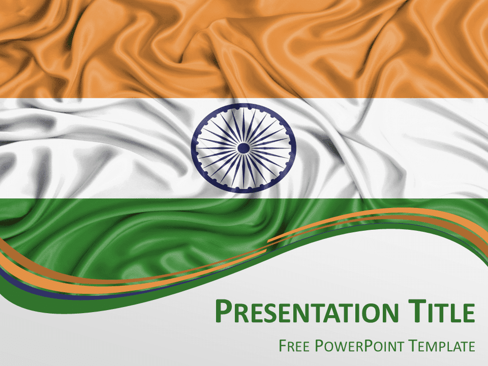 India flag powerpoint template for India map ppt template