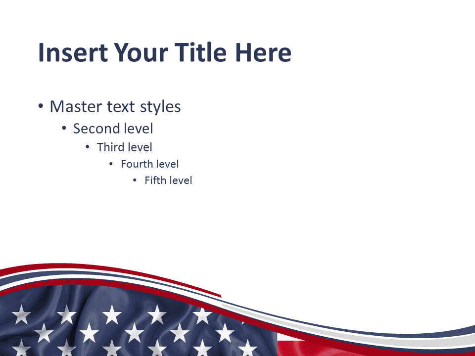 United states flag powerpoint template presentationgo for American cuisine presentation