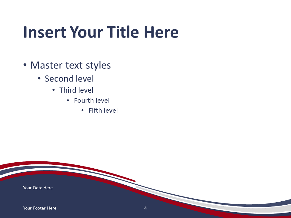 Free PowerPoint template with flag of the USA background. Title and Content slide.
