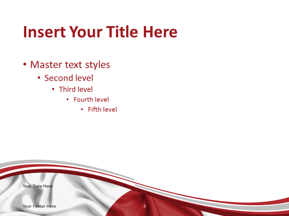 japan flag powerpoint template presentationgocom