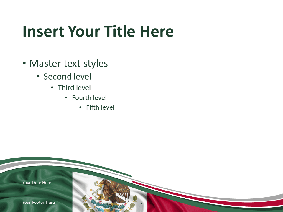 Mexico Flag Powerpoint Template Presentationgo Com