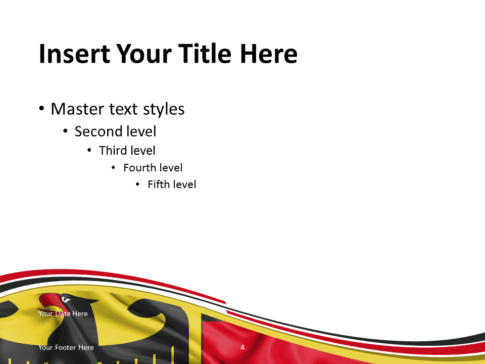 Germany flag powerpoint template presentationgo free powerpoint template with flag of germany background title and content slide toneelgroepblik Gallery