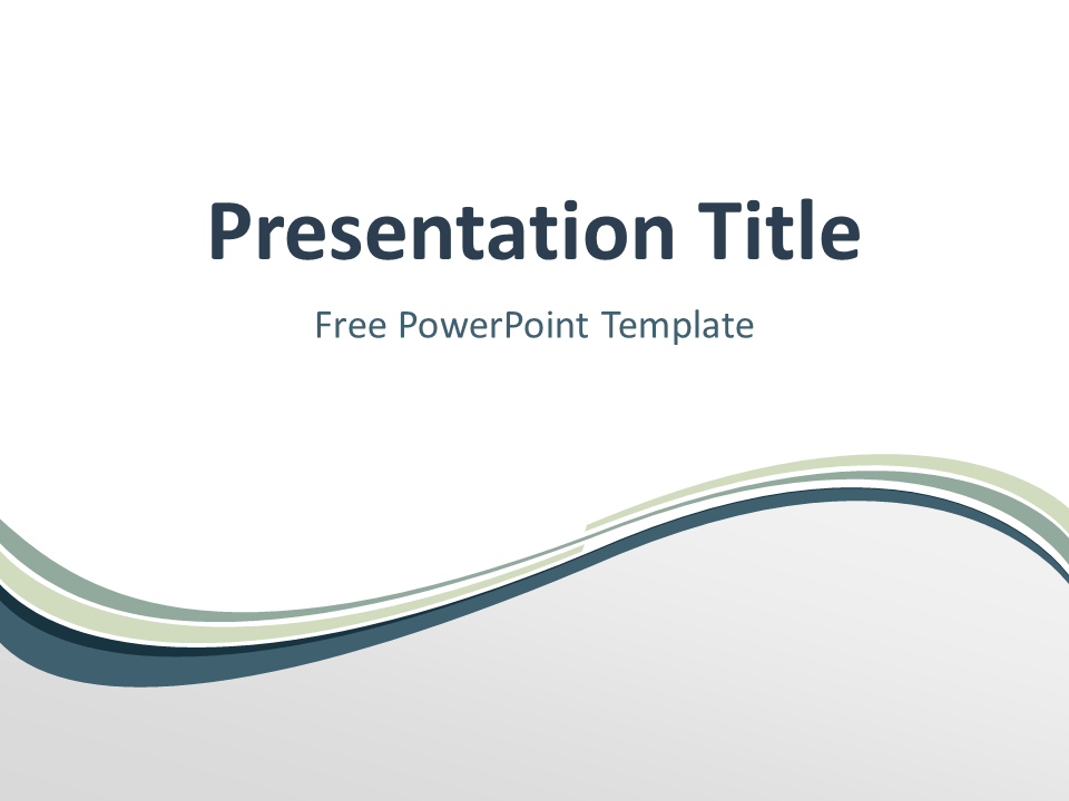 Abstract Free Grayish Wave PowerPoint Template with light background