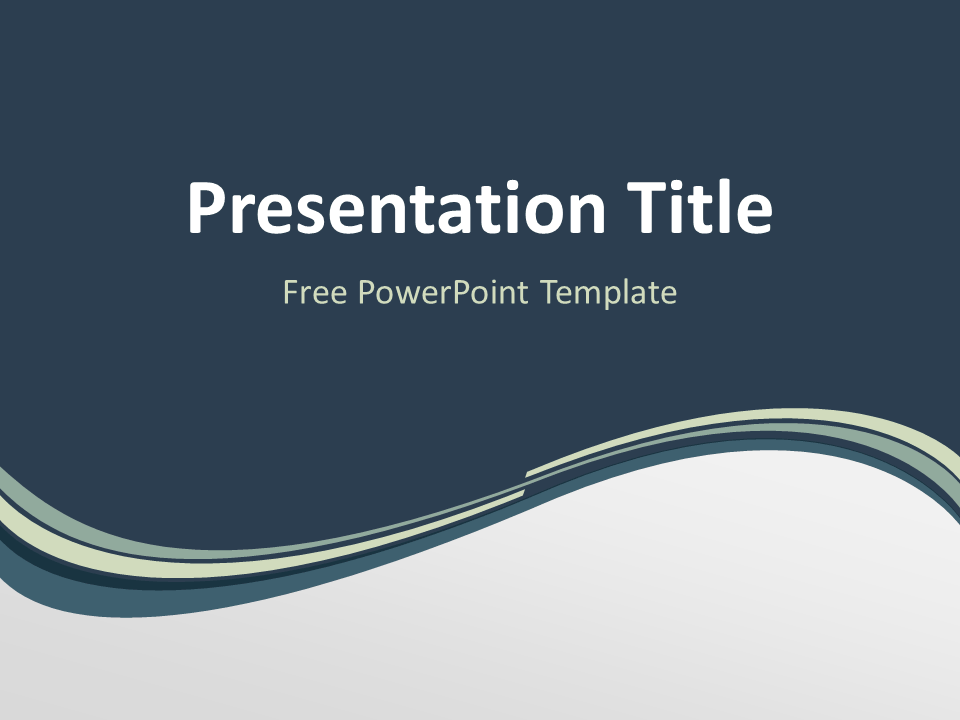 Grayish Wave Powerpoint Template Presentationgo Com