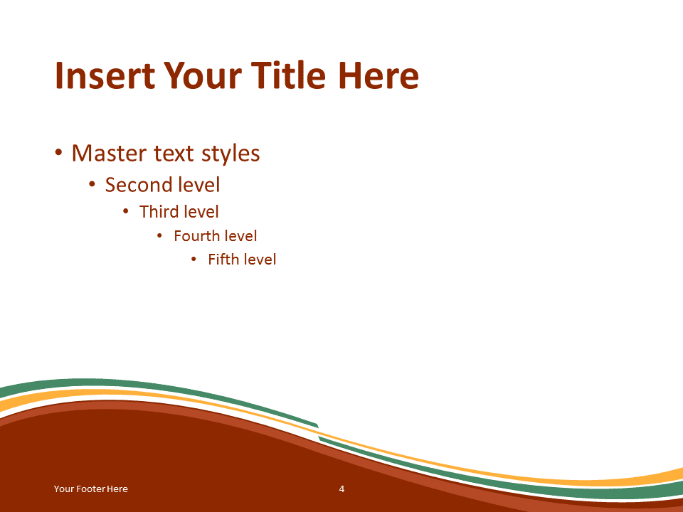 Abstract Free Orange Green Wave PowerPoint Template