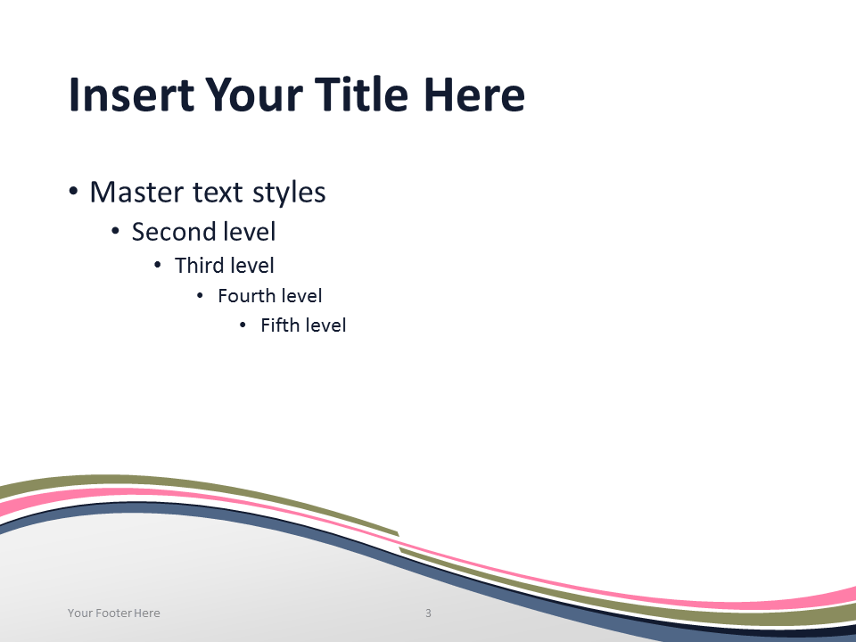 Free Pink Abstract Wave PowerPoint Template - Content Slide