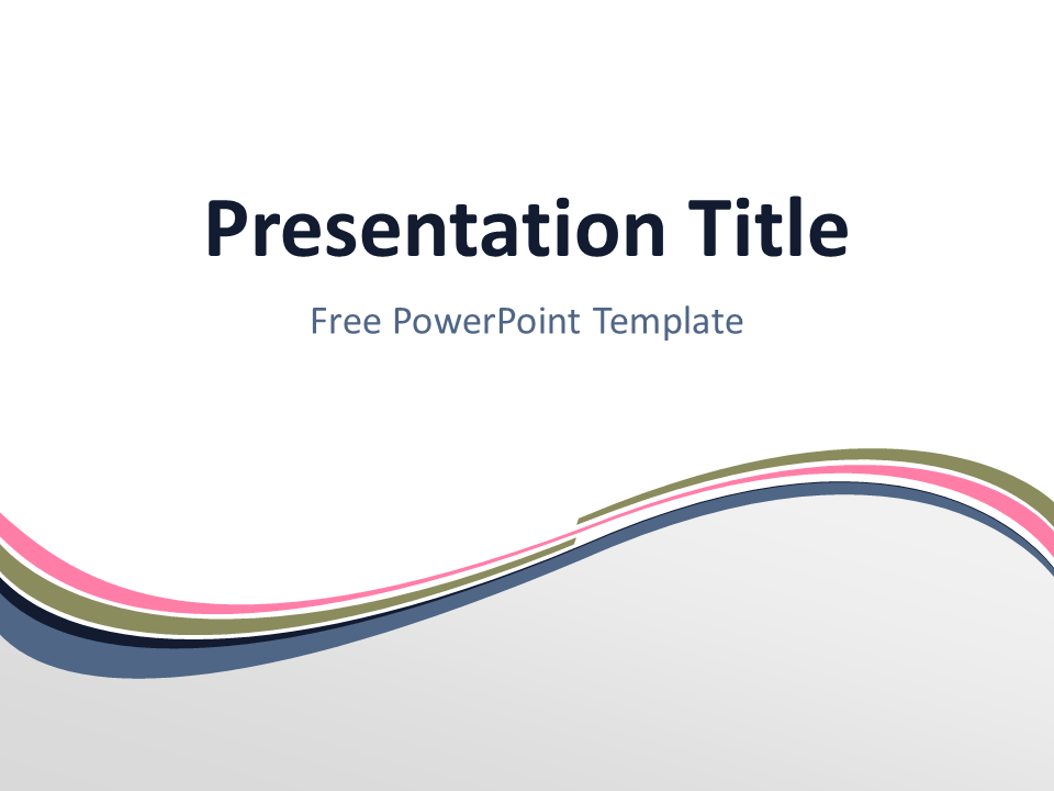 Free pink powerpoint templates presentationgo pink wave powerpoint template toneelgroepblik Choice Image