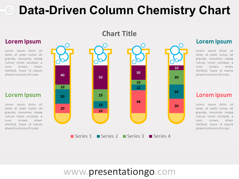 Free PowerPoint chemistry chart with test tubes