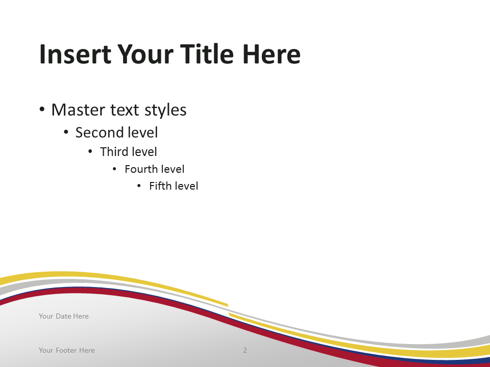 Free PowerPoint template with flag of Colombia background. Title and Content slide.