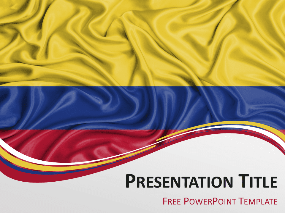 South america the free powerpoint template library colombia flag powerpoint template toneelgroepblik Images