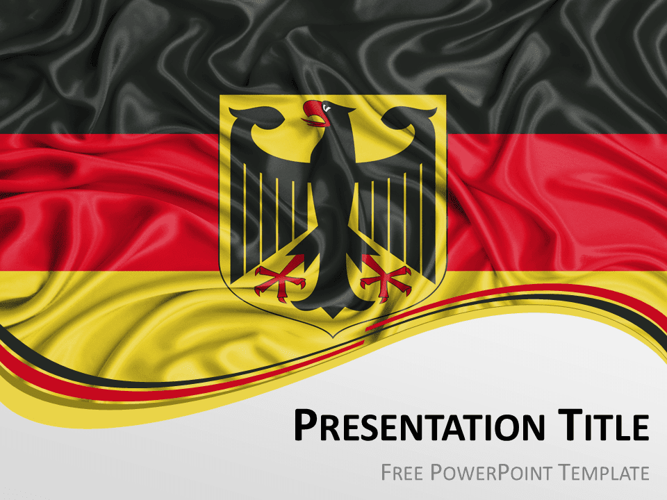 Germany flag powerpoint template presentationgo free powerpoint template with flag of germany background toneelgroepblik Image collections