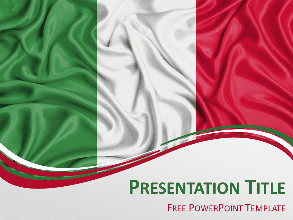 Italy flag powerpoint template presentationgo view larger image free powerpoint template with flag of italy background toneelgroepblik Image collections