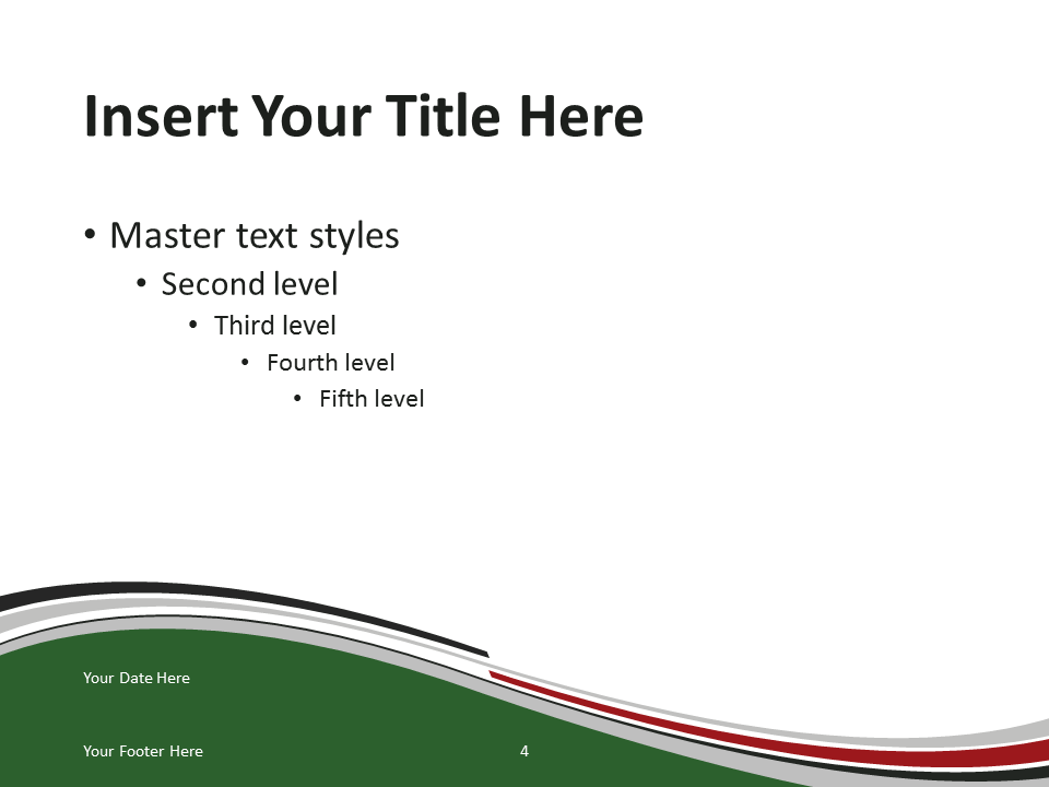 kenya flag powerpoint template - slide 4 - presentationgo, Modern powerpoint